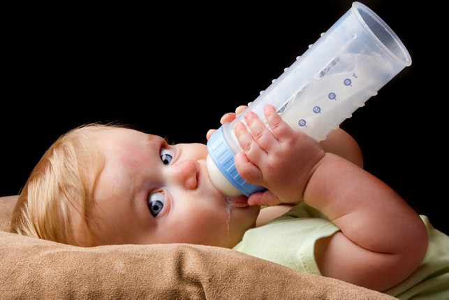 baby drinking a bottle 2