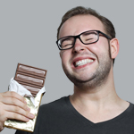 guy smiling with chocolate 2