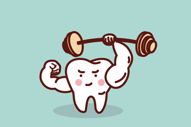 buff tooth lifting barbell