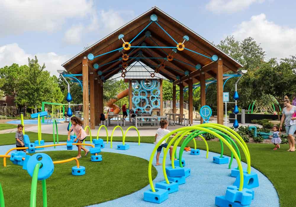 Park playground in Katy Texas