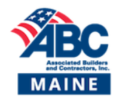 Logo for Associated Builders and Contractors, Inc., Maine Chapter.
