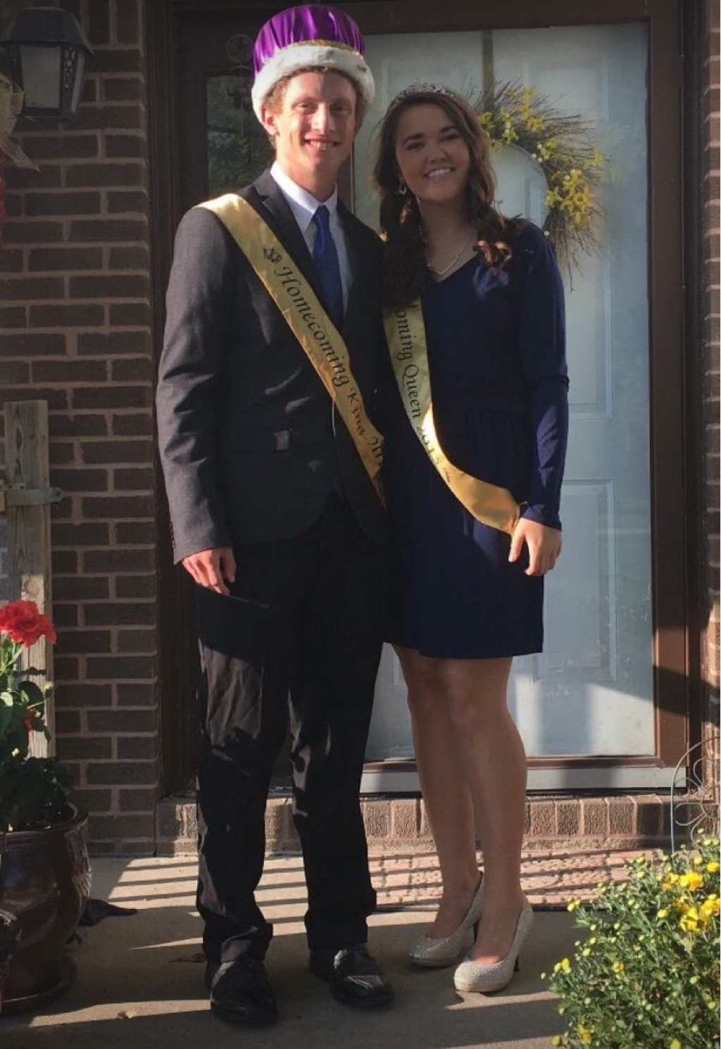 Homecoming Picture with Boyfriend while attending community college