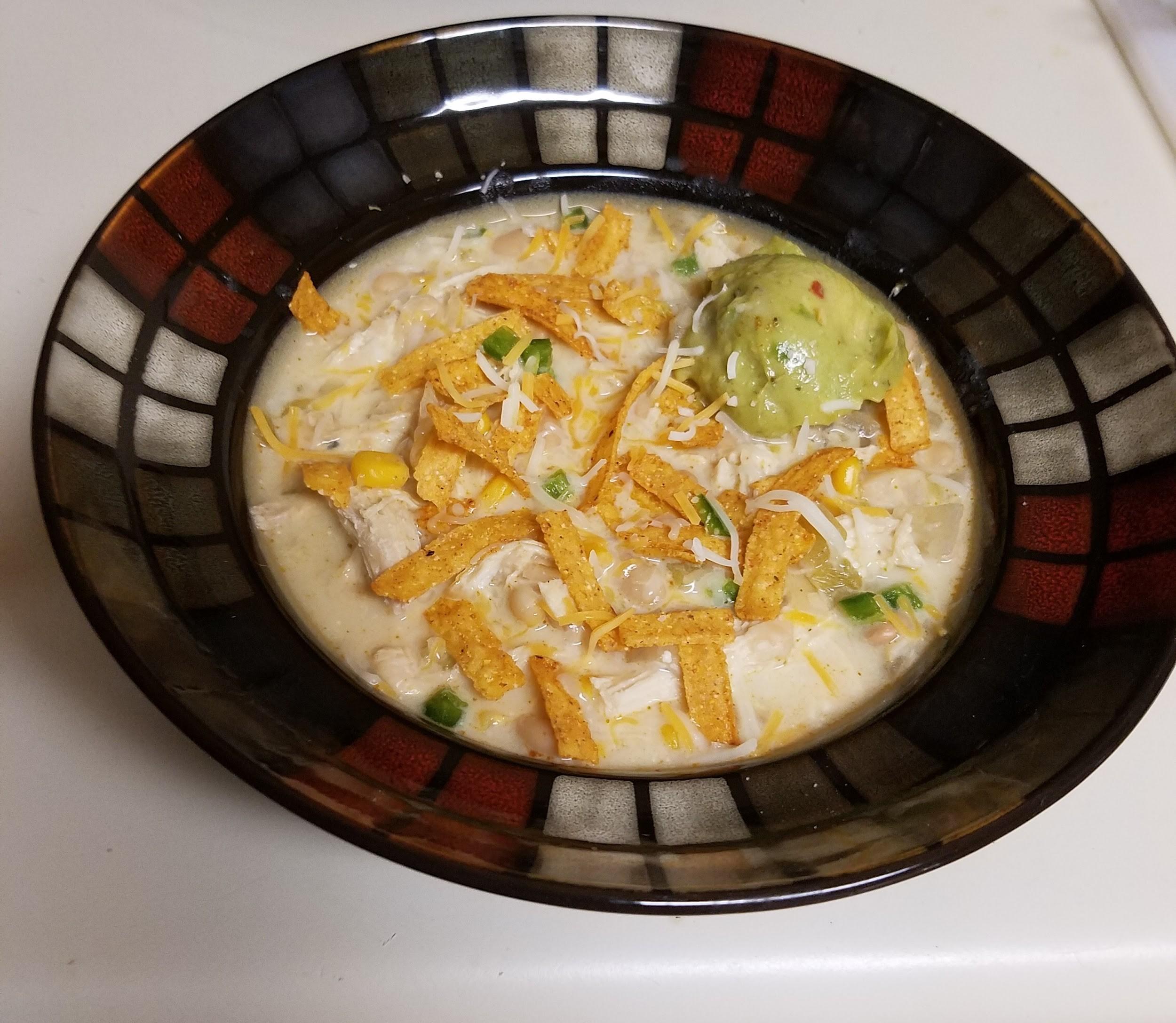 Incredible White Chicken Chili masterpiece served