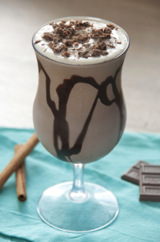 Frozen Hot Chocolate from Wishes and Dishes
