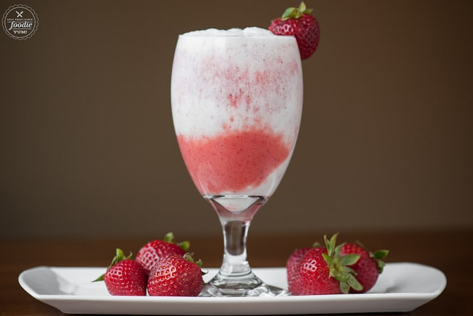Strawberry Coconut Lava Flow by Self Proclaimed Foodie