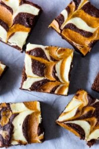 Pumpkin Cheesecake Brownies from Chocolate With Grace
