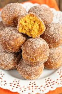 Baked Pumpkin Donut Holes from Live Well Bake Often