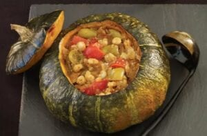 Spicy Fall Stew in Pumpkin from Vegetarian Times