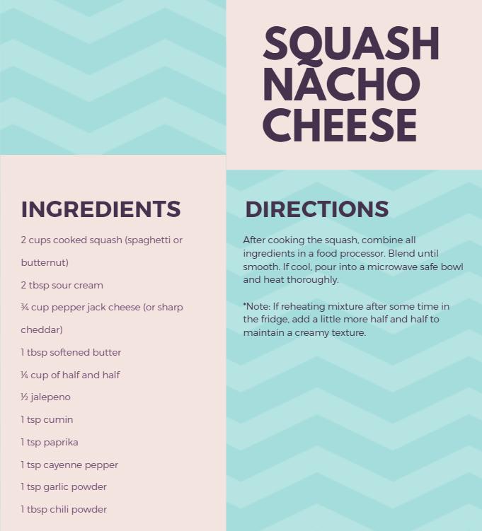 Recipe for squash nacho cheese