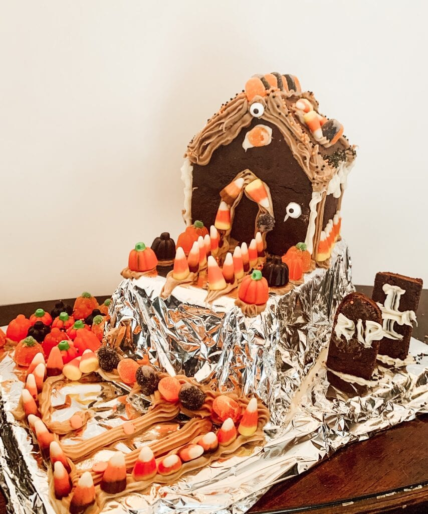 Halloween Houses Made of Candy