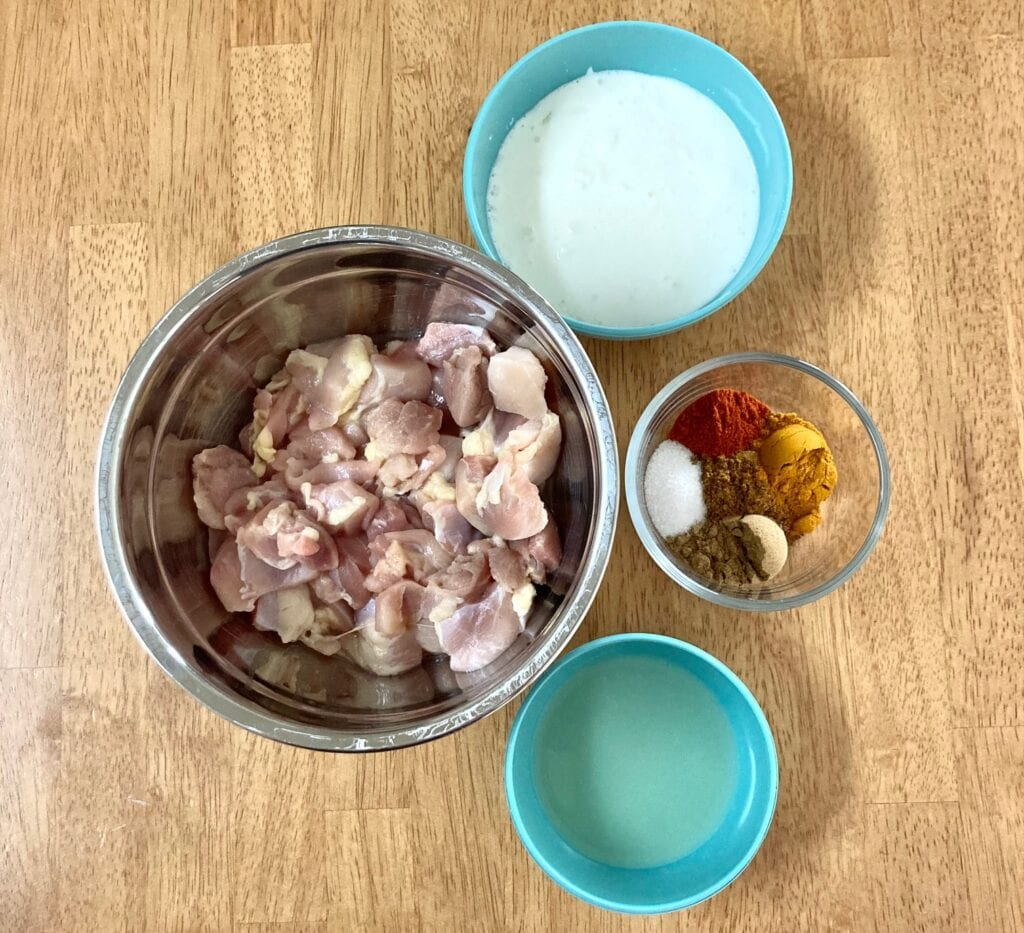 the ingredients for the chicken marinade