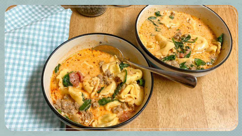 Easy Instant Pot Sausage Tortellini Soup