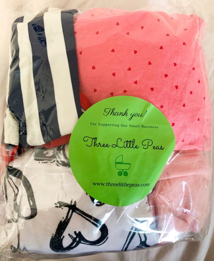 Three Little Peas Boutique Packaging