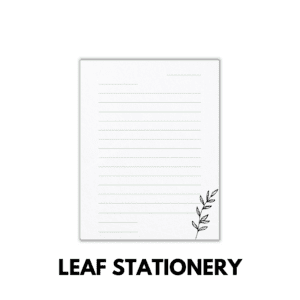 Leaf Stationery for family history challenge
