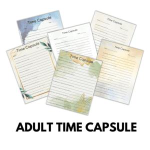 Adult Time Capsule Worksheet Printable
