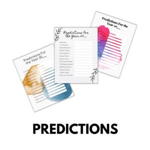 Predictions Printables