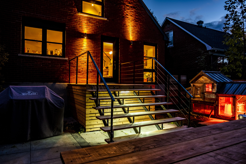 Balcon cèdre rouge de l'ouest