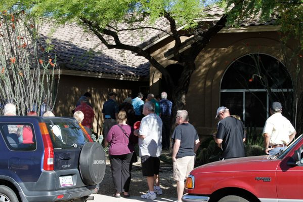Line waiting before opening in Cave Creek AZ