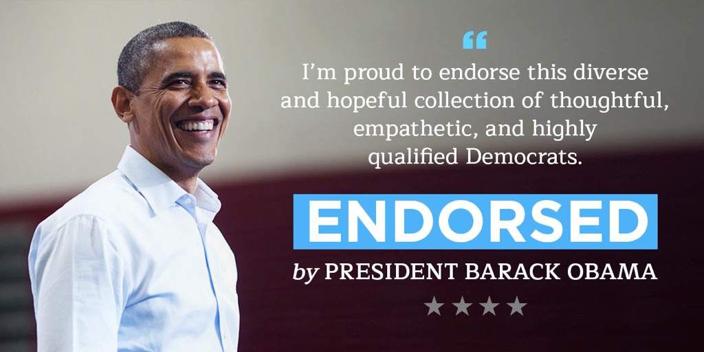 Endorsed By President Barack Obama
