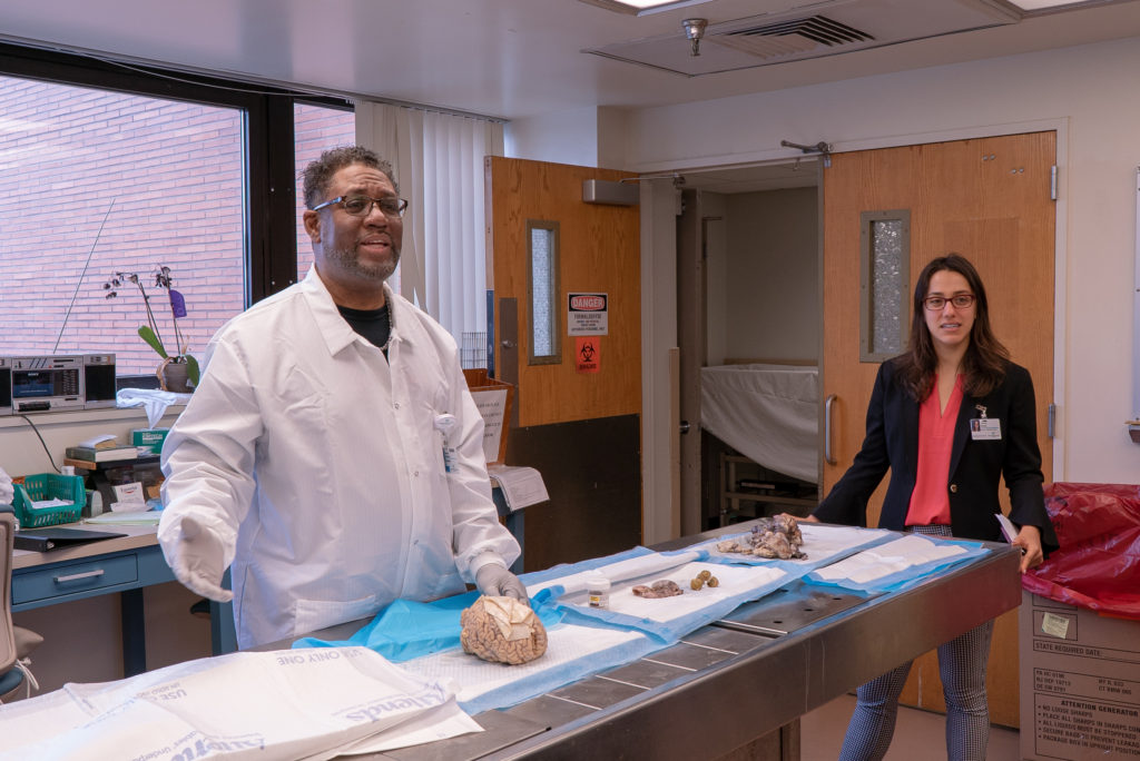 """Vaux students at Temple Hospital's """"Cradle to Grave"""" program."""