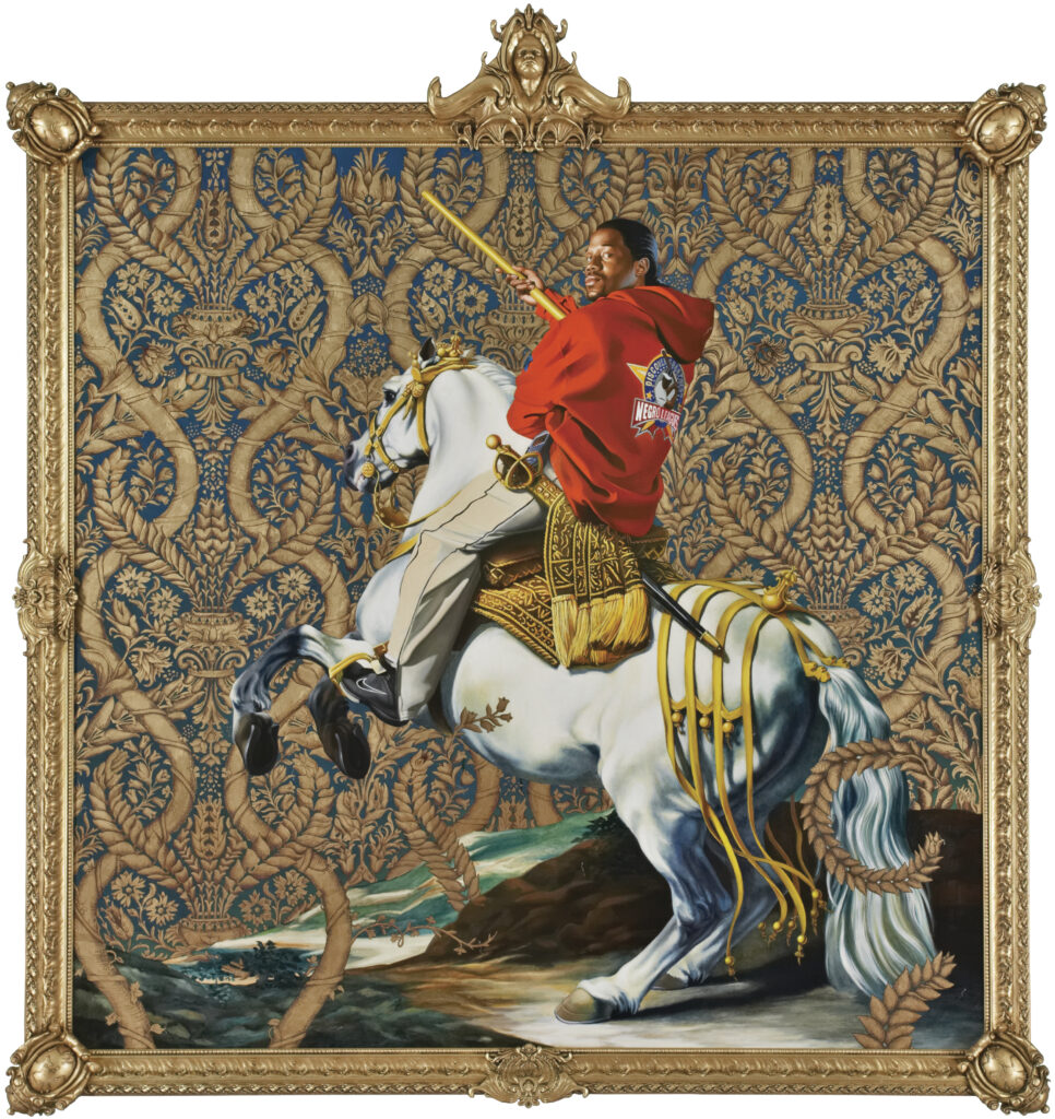 Kehinde Wiley. Equestrian Portrait of the Count Duke Olivares, 2005. Courtesy of Rubell Family Collection, Miami
