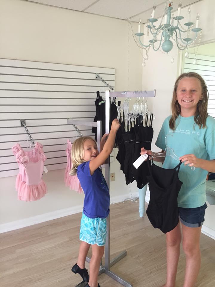 Leotards & dancewear inventory at The Dance Shoppe in Dunedin