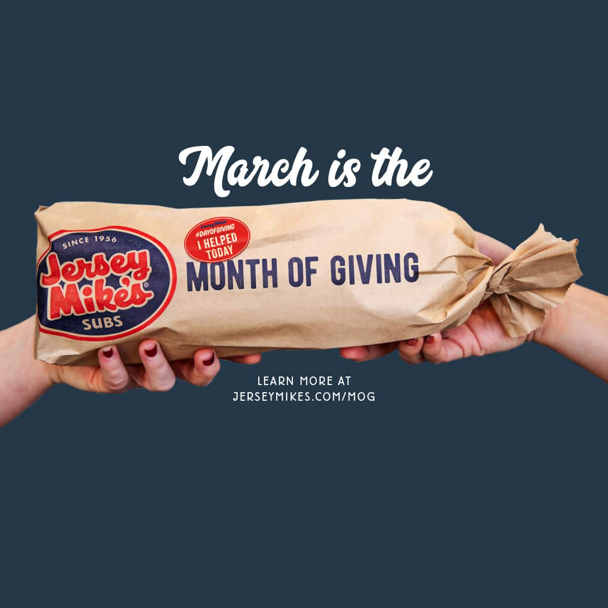 Celebrate Jersey Mike's 11th Annual Month of Giving in March