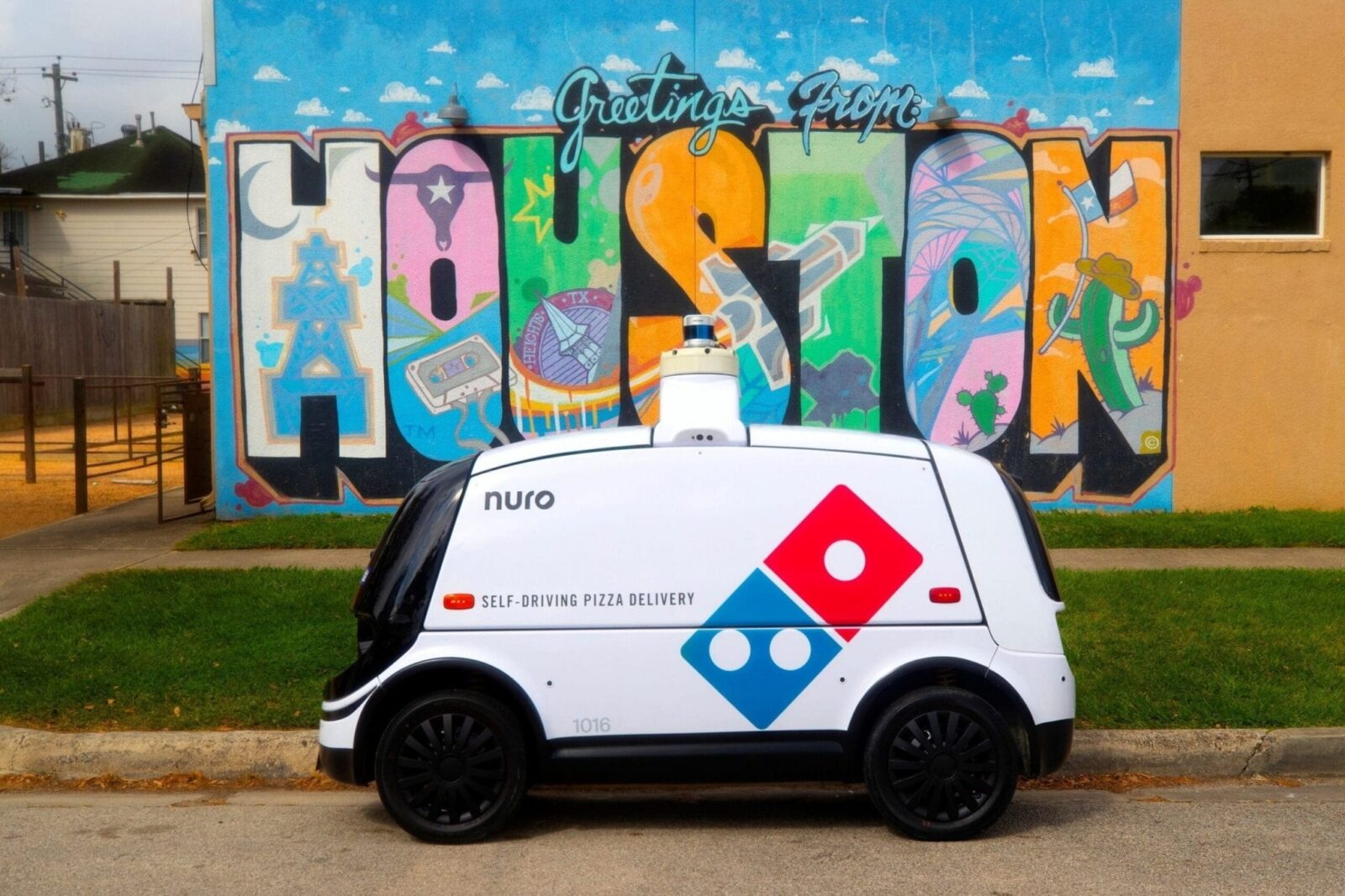 Domino's® - Nuro Launch Autonomous Pizza Delivery with On-Road Robot
