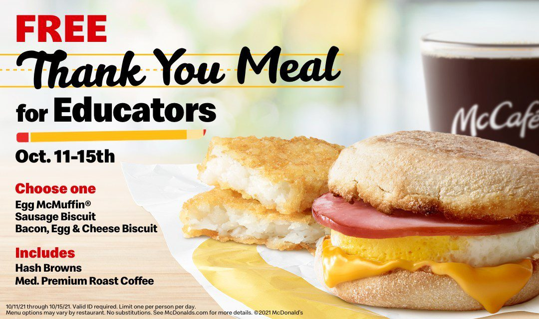 McDonald's Serves Up Free Meals to Educators Nationwide
