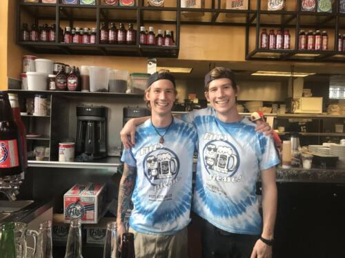 Noah and Jacob Smith working at Fitz's Root Beer on Delmar.