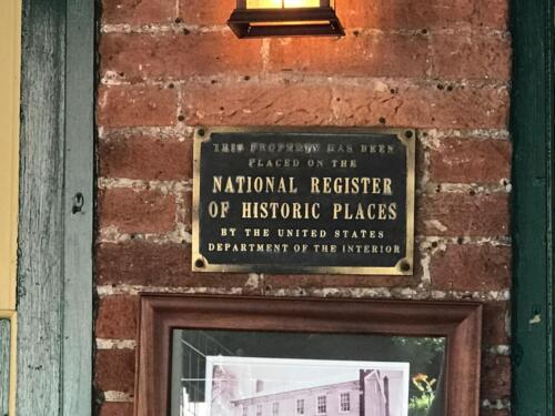 Hendel's National Register of Historic Places plaque from the US Department of Interior