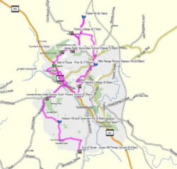 Route 100 – Victory Heights to Jones Hill Morning School Service