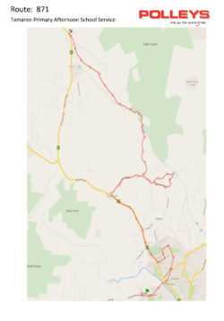 Route 871 – Tamaree Primary Afternoon School Service