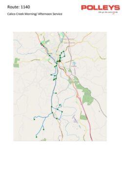 Route 1140 – Calico Creek Morning School Service