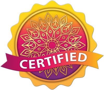 Middle Eastern Circular Mandala Design | CTS Certification Badge
