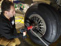 DB-RAD on airplane wheel 2