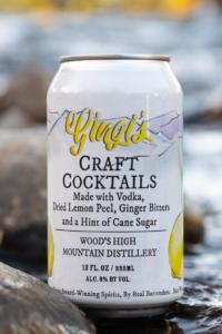 Gingi's Vodka, Ginger, Lemon Cocktail