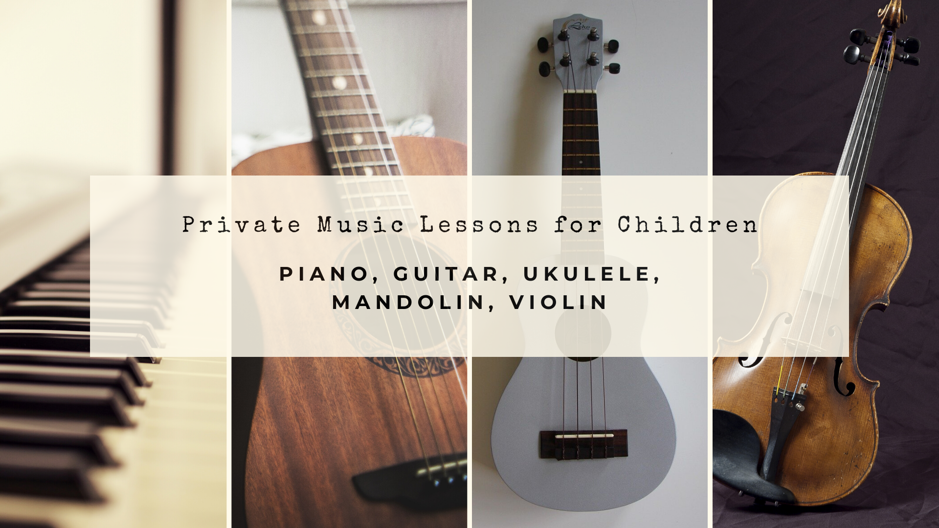 Private Music Lessons for Children
