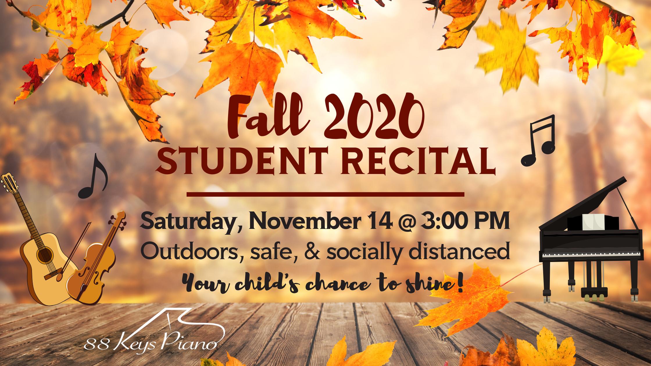 2020 Fall Student Recital