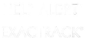 White Help Alert and Exactract logos