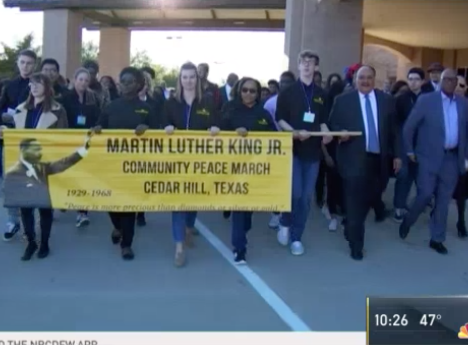 North Texans March with MLK III