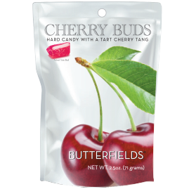 Butterfields Old Fashioned Hard Candies by Butterfields Candy - Cherry Buds hard candy with a tart cherry tang