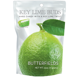 Butterfields Old Fashioned Hard Candies by Butterfields Candy - Keylime Buds hard candy with a key lime twist
