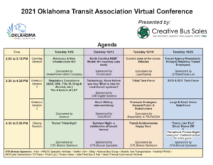 2021 Oklahoma Transit Association Virtual Fall Conference presented by Creative Bus Sales @ Online | Norman | Oklahoma | United States