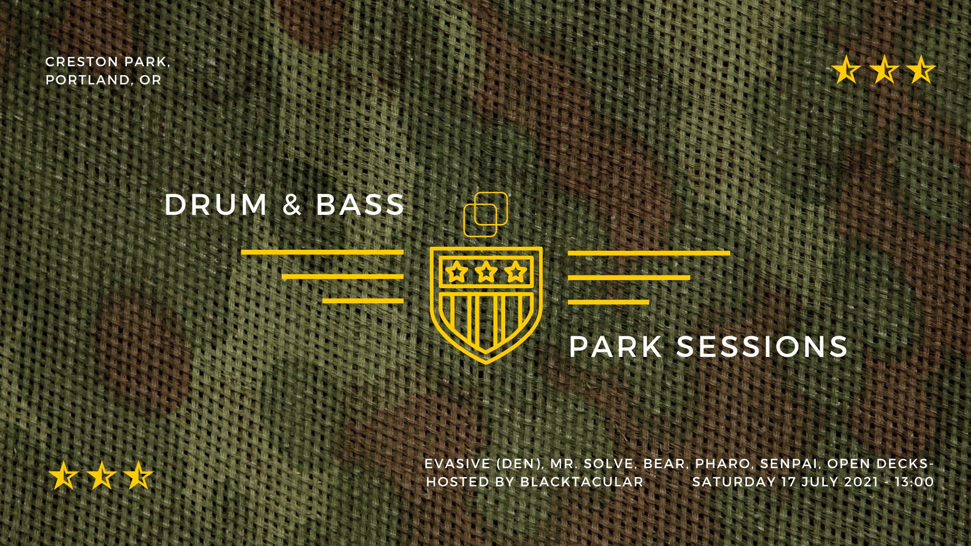 dnb in the park!!! July 17