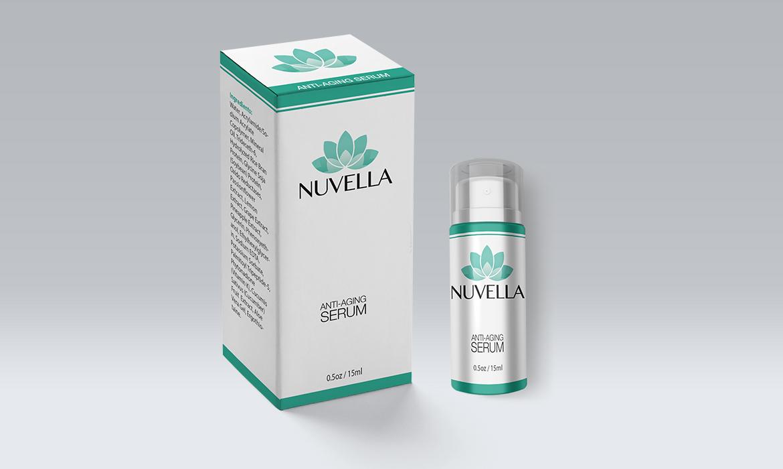 Nuvella Eye Cream Retail Box & Label