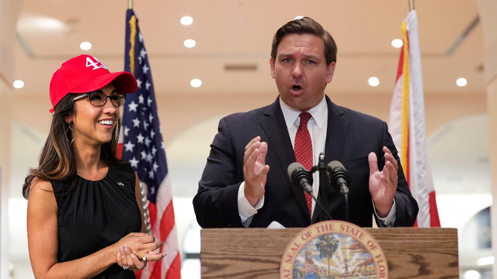 Governor Ron DeSantis and U.S. Rep Lauren Boebert