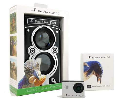Bird feeder with 4k motion activated wi-fi bird cam combination