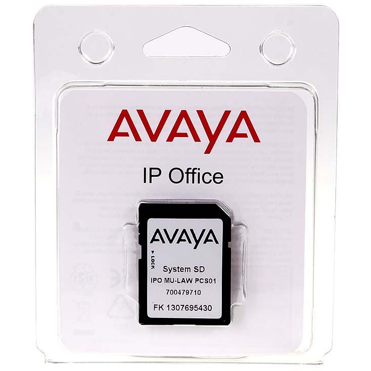 Avaya System SD Card Mu Law