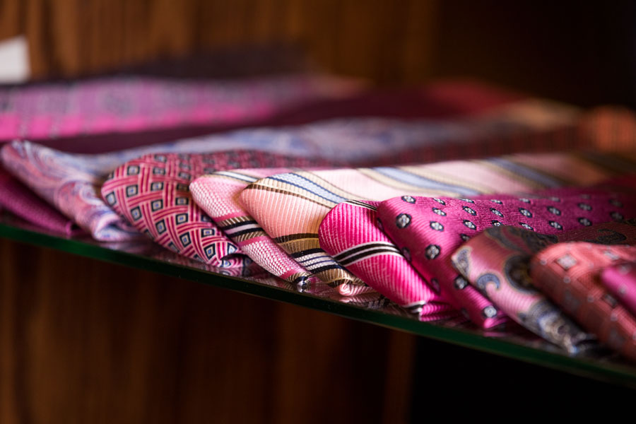 Furnishings & Accessories - pink ties on the glass shelf